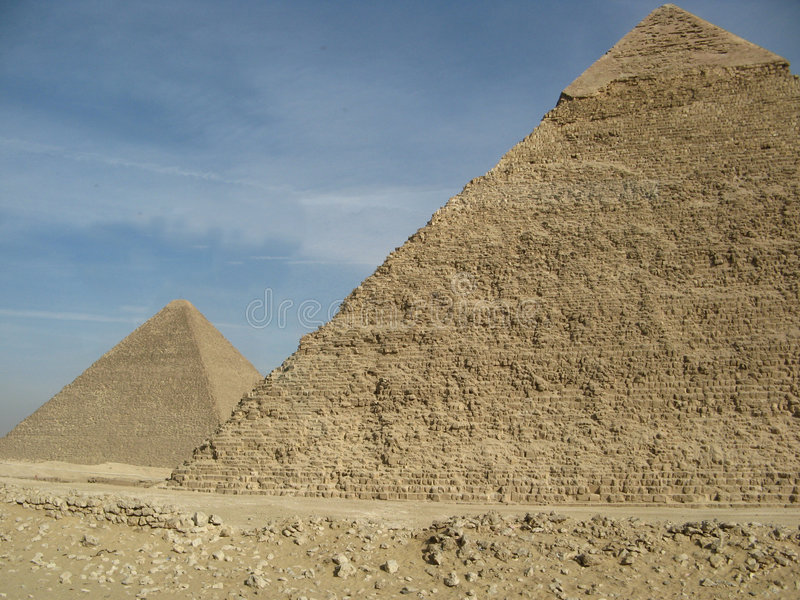Download Two Pyramids stock image. Image of egyptology, images - 4001655