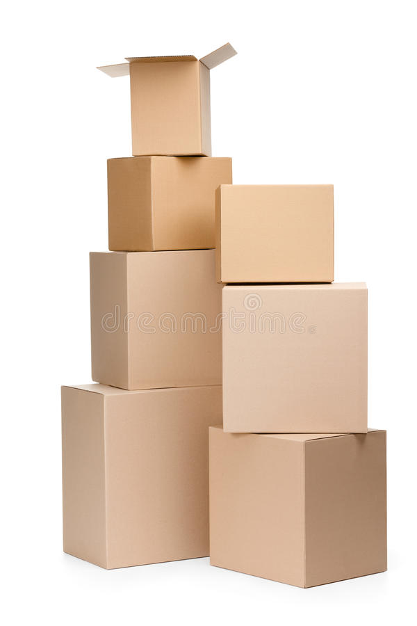 Two Pyramids Of Boxes Royalty Free Stock Image