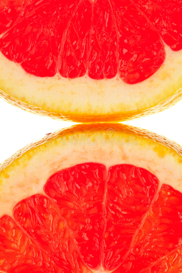 Two Quarter Grapefruits Royalty Free Stock Image