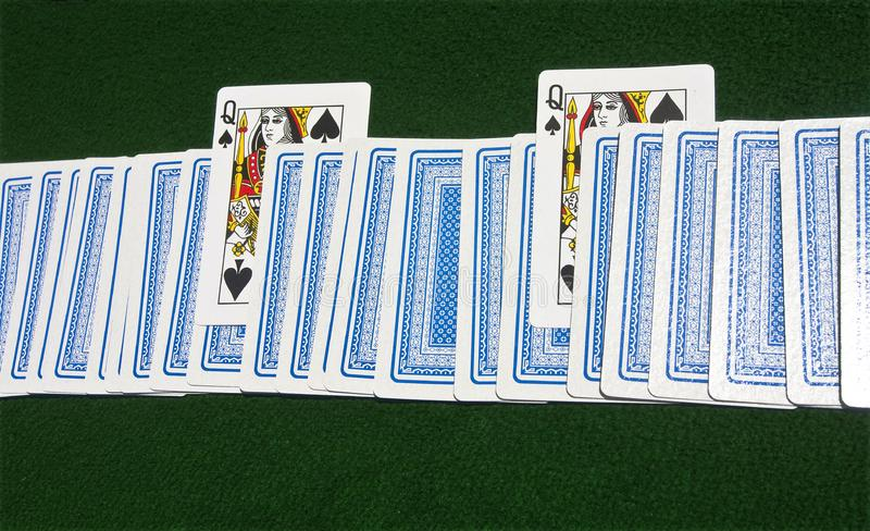 Download Two Queens of Spades stock image. Image of green, money - 20257117