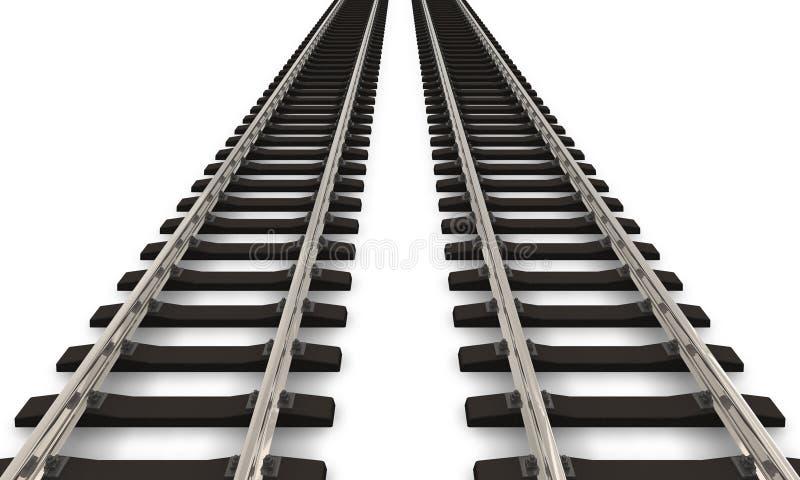 Two railroad tracks royalty free illustration