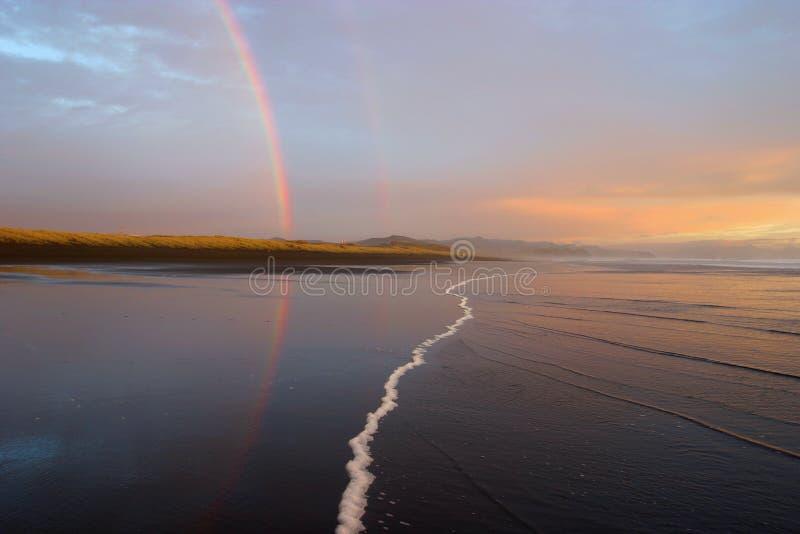 Download Two Rainbows stock image. Image of zealand, ocean, mirror - 49667