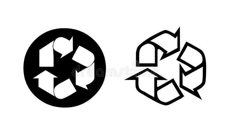 Download Two recycling symbol stock illustration. Image of life - 18705035