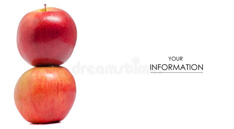 Two red apples pattern royalty free stock photos