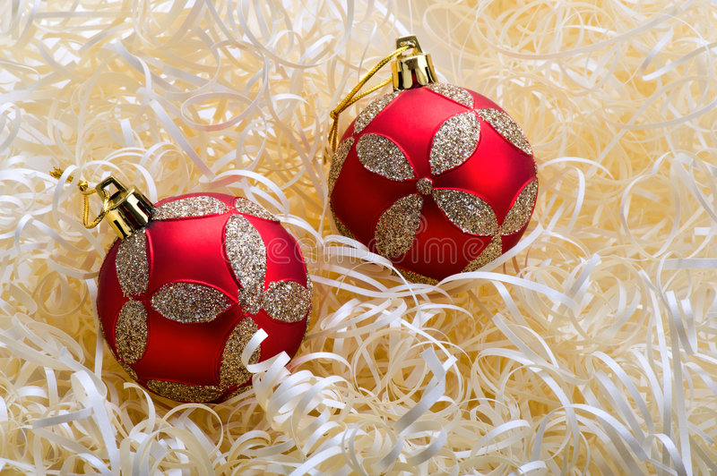 Download Two red ball - 2 stock photo. Image of descriptive, adorn - 7573698