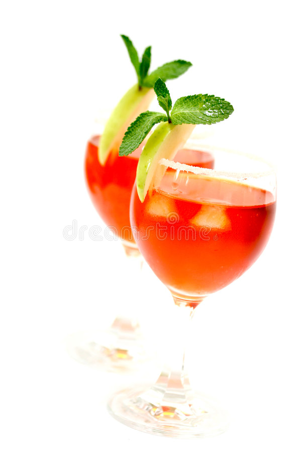 Download Two Red Cocktail Concoction Stock Image - Image of elegance, crystal: 2321583