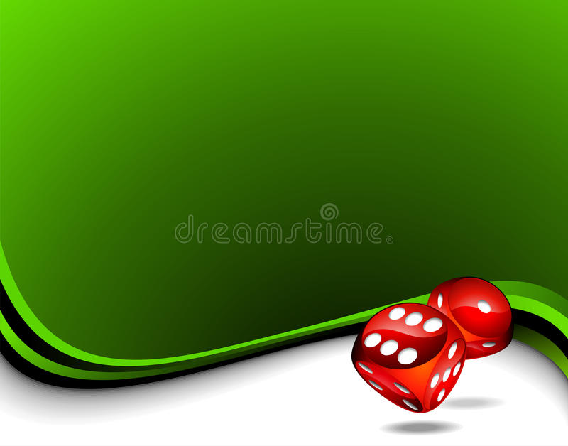 Two red dices for a casino theme