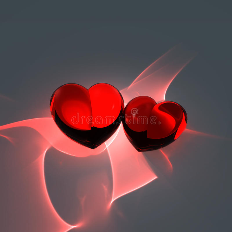 Download Two red hearts stock illustration. Image of celebration - 22750825