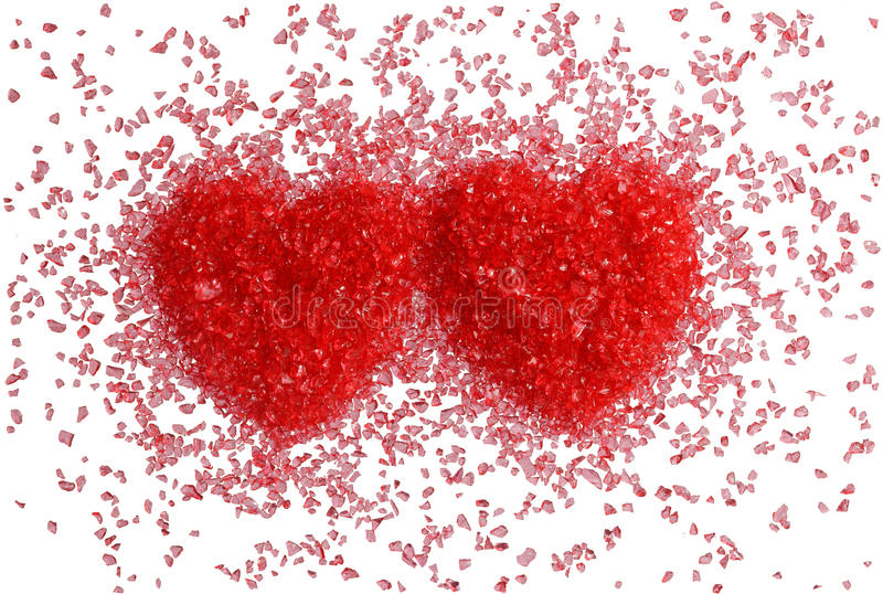 Download Two red hearts stock photo. Image of romantic, heart - 23016504