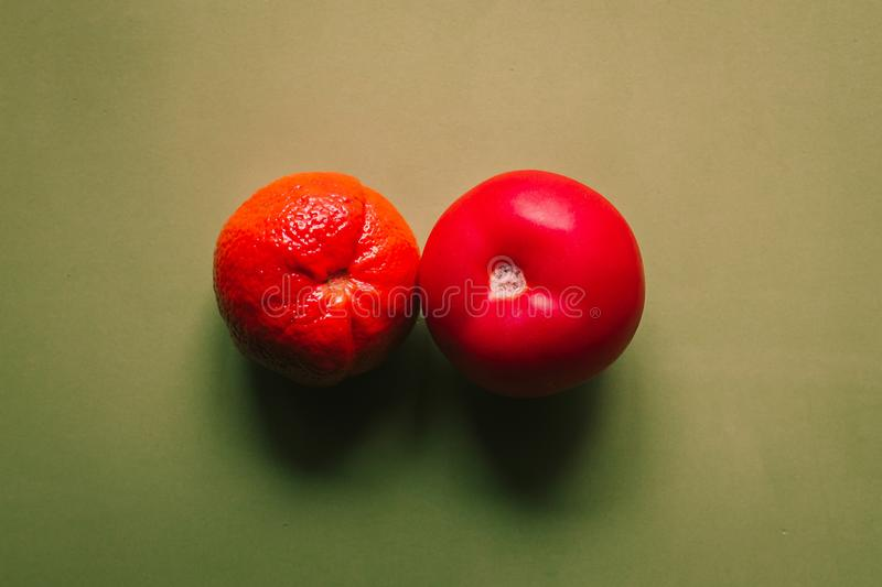 Two Red Tomatoes stock images