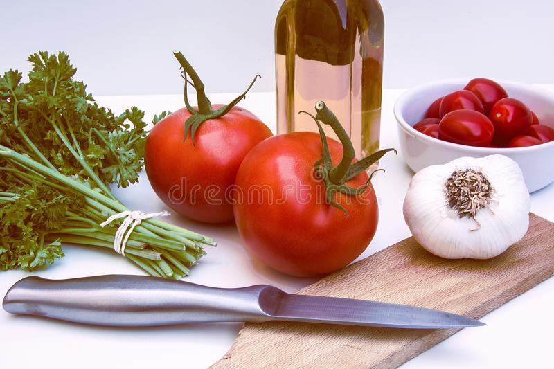 Two Red Tomatoes royalty free stock photos