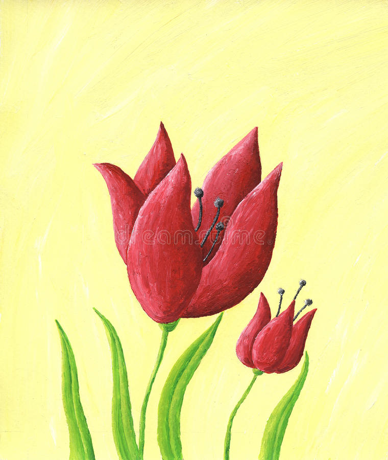 Download Two Red Tulips Royalty Free Stock Photography - Image: 27442167