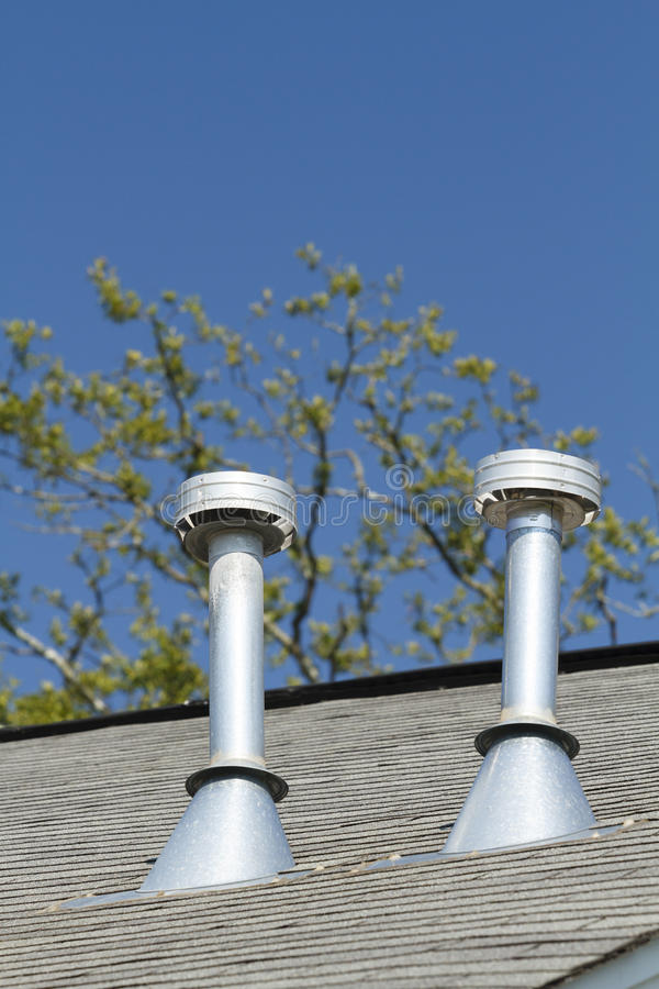 Free Two Residential Roof Exhaust Vents Royalty Free Stock Image - 30921836