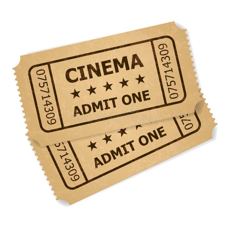 Two Retro Cinema Tickets Stock Photos