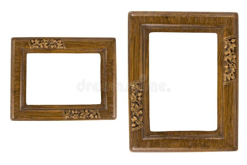 Two Retro photo frames royalty free stock photography