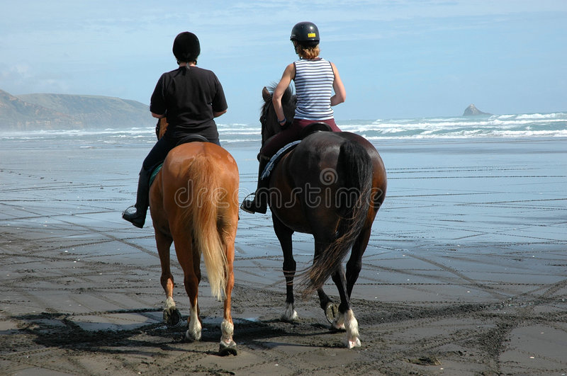Download Two Riders stock image. Image of ocean, health, sand, horse - 154167