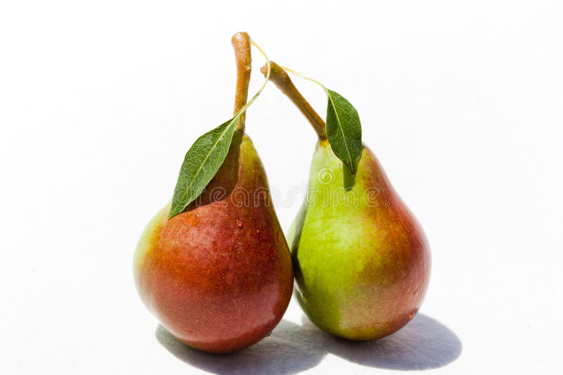 Download Two Ripe Pears With The Leaf Stock Image - Image: 25650369