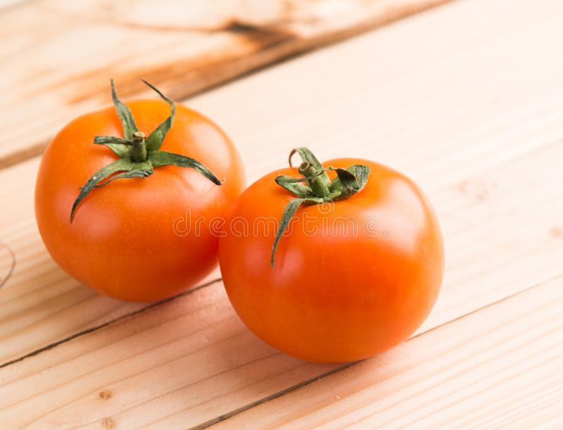 Two Ripe Tomatoes stock image