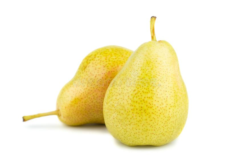 Two ripe yellow pears royalty free stock photography