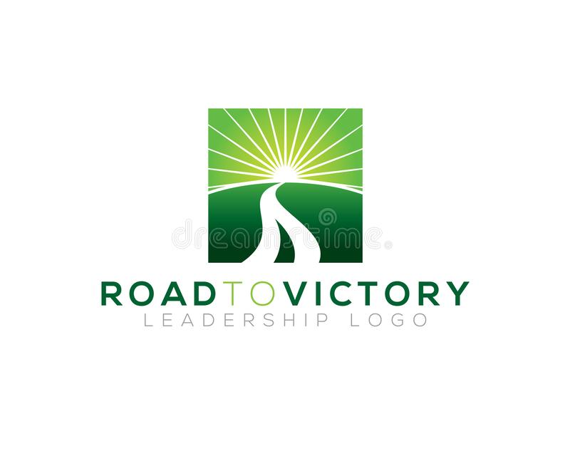 Road to victory vector illustration