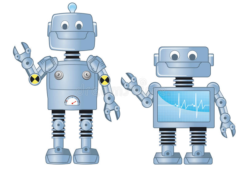 Download Two robots stock vector. Illustration of artistic, feet - 25370978