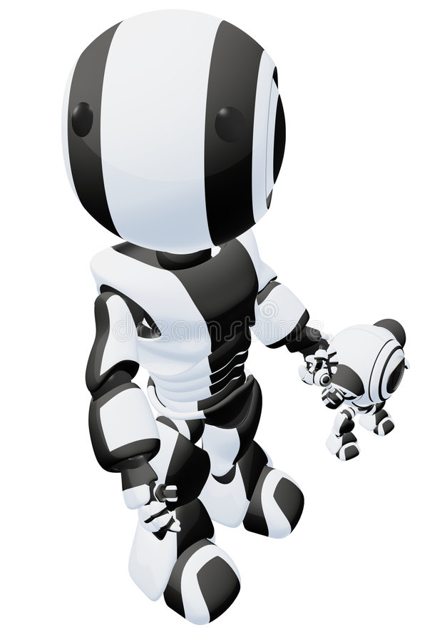 Download Two Robots Royalty Free Stock Photo - Image: 6217425