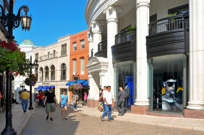 Two Rodeo in Rodeo Drive, Beverly Hills stock photography