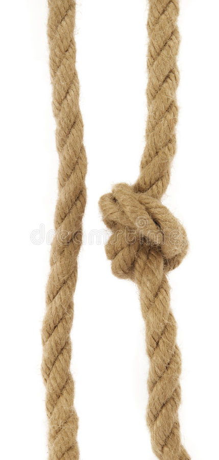 Two rope stock photo