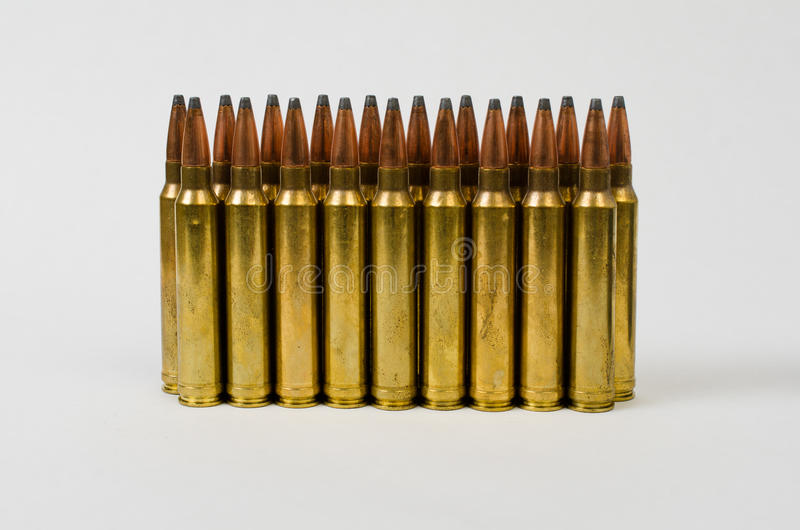 Two Rows of Bullets stock images