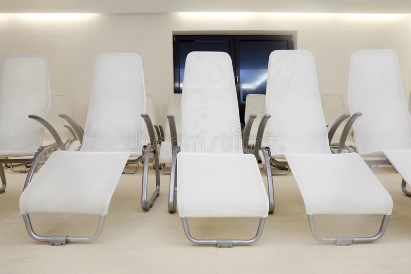 Download Two Rows Of Comfortable Seats In Empty Room Stock Photo - Image of many, convention: 27754174