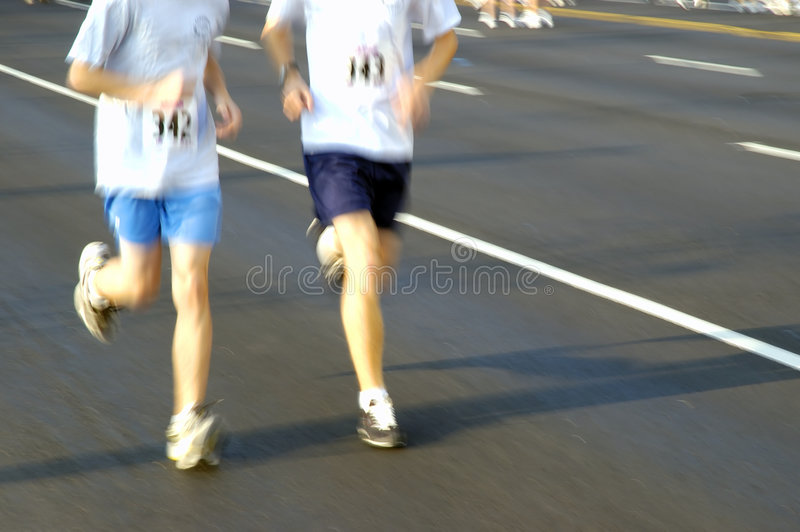 Two runners stock photography