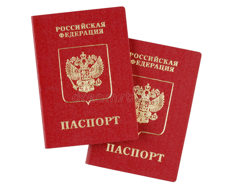 Download Two Russian International Passports Stock Images - Image: 17635244