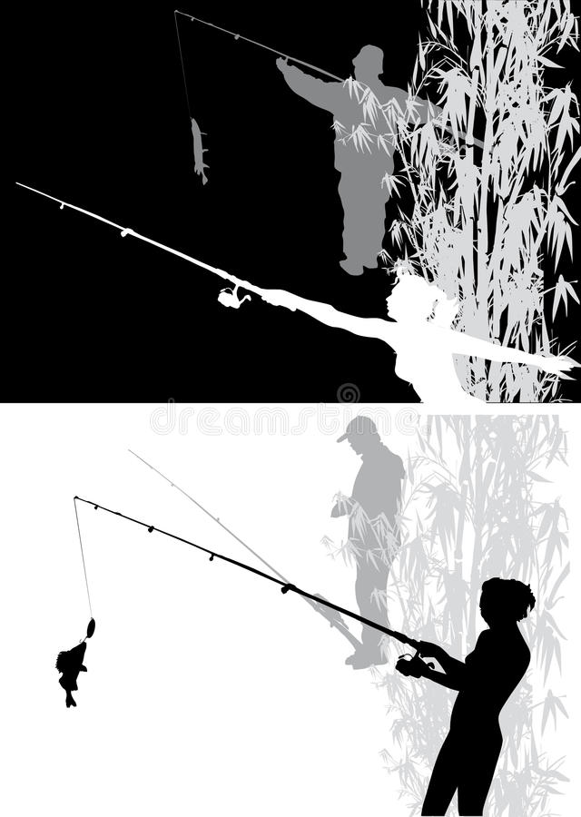Download Two scenes with fishing stock vector. Illustration of fisherman - 17228867