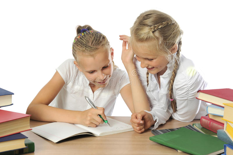 Download Two schoolgirls stock image. Image of sisters, cute, smile - 22472045