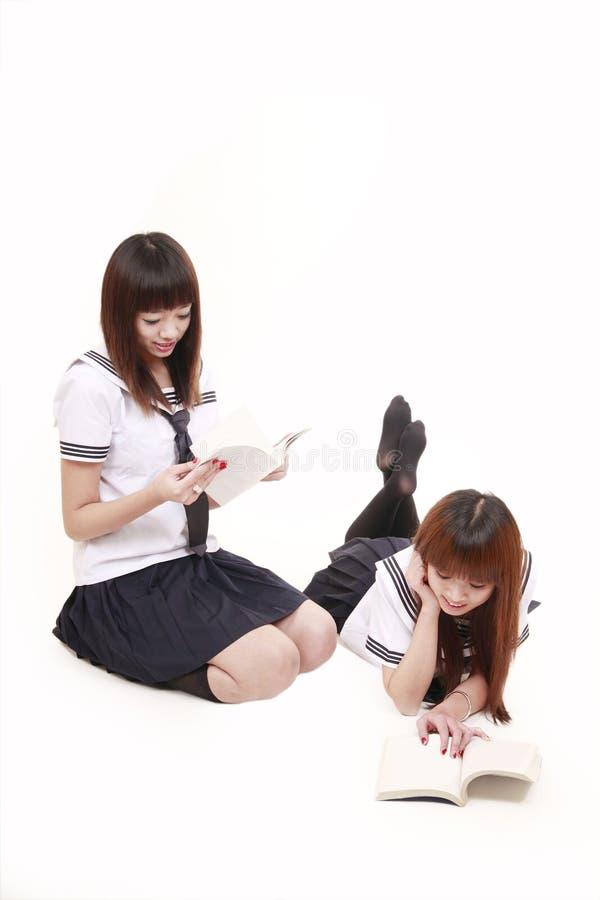 Two Schoolgirls In Uniform Stock Photography