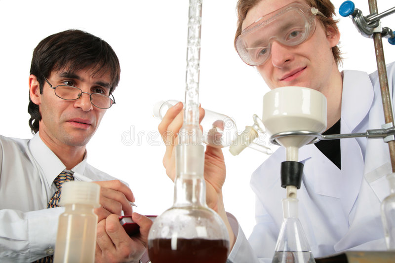 Download Two Scientists  With Chemical Equipment Stock Photo - Image: 8359284