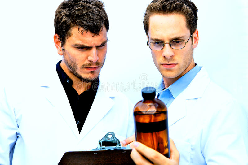Download Two Scientists Working Together Stock Image - Image: 10645661