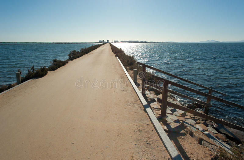Download Two seas stock photo. Image of sunny, promenade, spain - 23205948