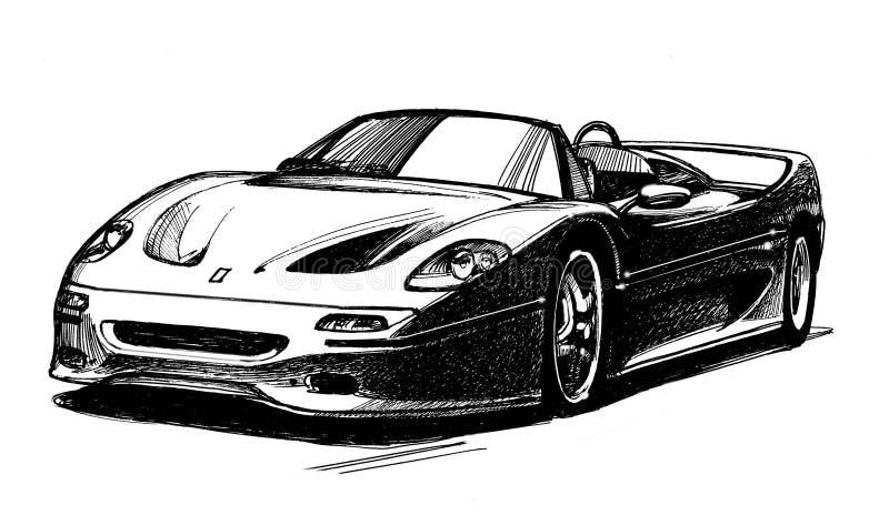 Two-seater sportwagen vector illustratie
