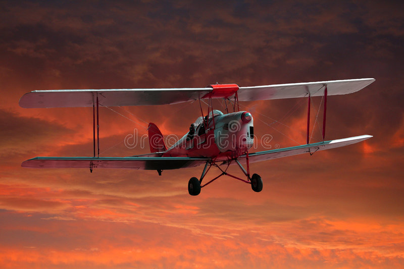 Download Two seater Tigermoth stock image. Image of trainer, flying - 4654343