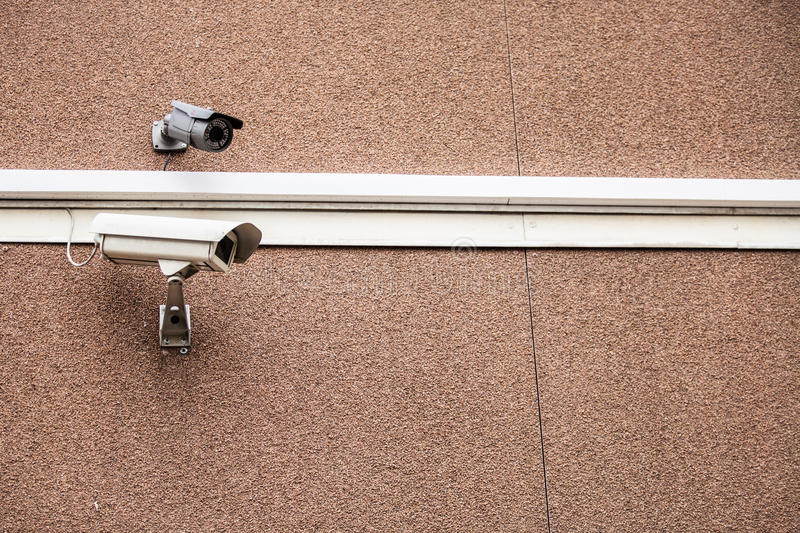 Two security cam. Two the security the cam royalty free stock images