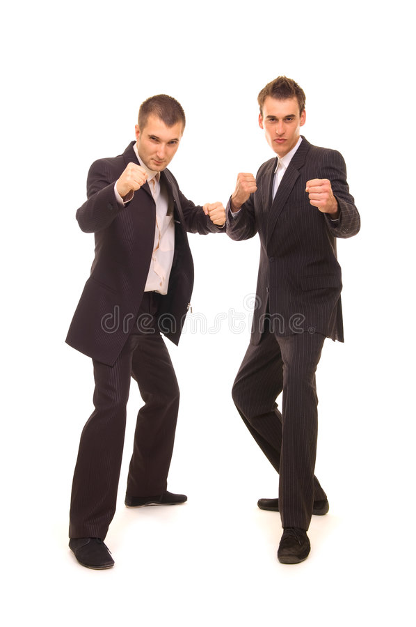 Download Two serious businessmen stock photo. Image of malice, brawl - 5748160