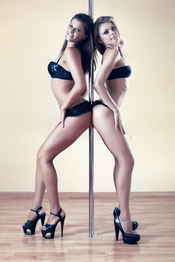 Download Two women stock image. Image of underwear, pole, posing - 15449289