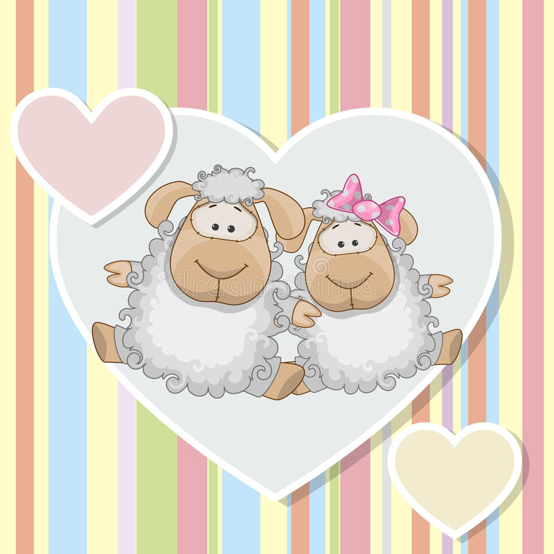 Two Sheep vector illustration