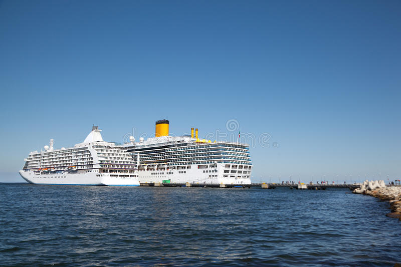 Download Two ships in pier stock photo. Image of passengers, harbor - 26281558