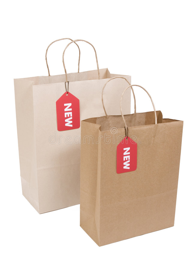Free Two Shopping Bags With NEW Tag Stock Photography - 6328692
