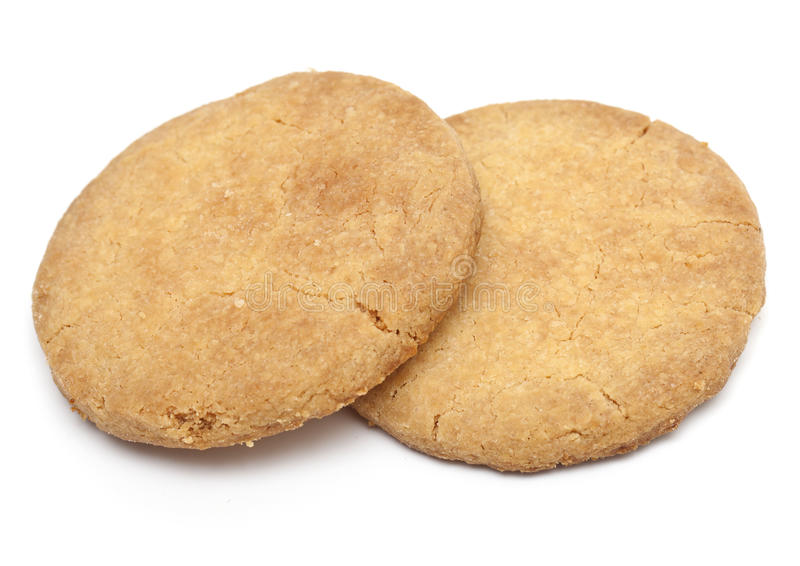 Two shortbread cookies royalty free stock photography
