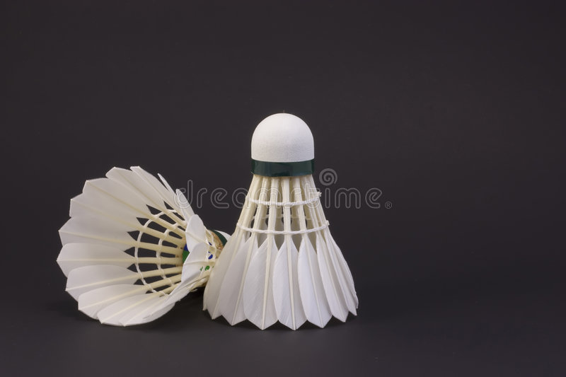 Download Two shuttlecocks stock image. Image of feather, isolated - 8709493