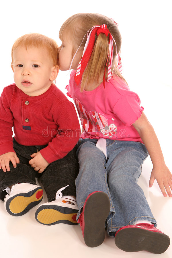 Two siblings two royalty free stock images