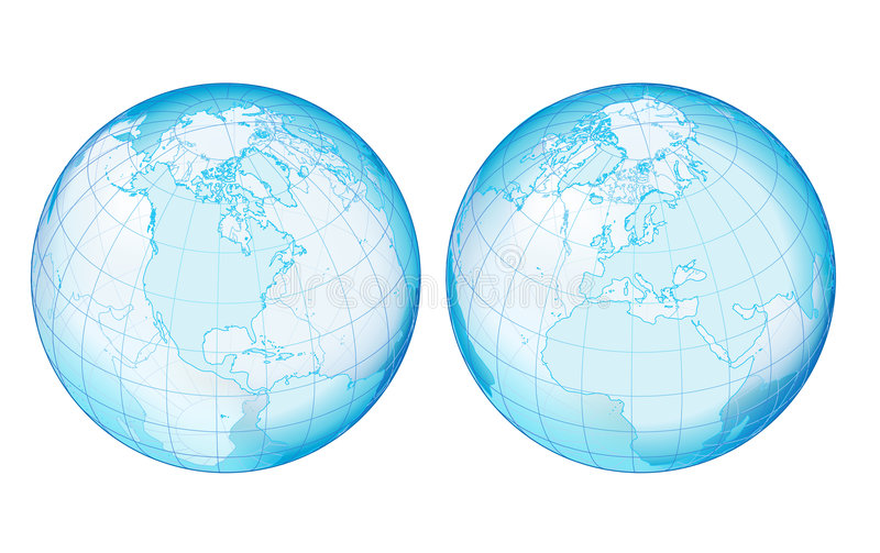 Download Two Side Transparency Globe Stock Vector - Illustration of countries, europe: 4274495